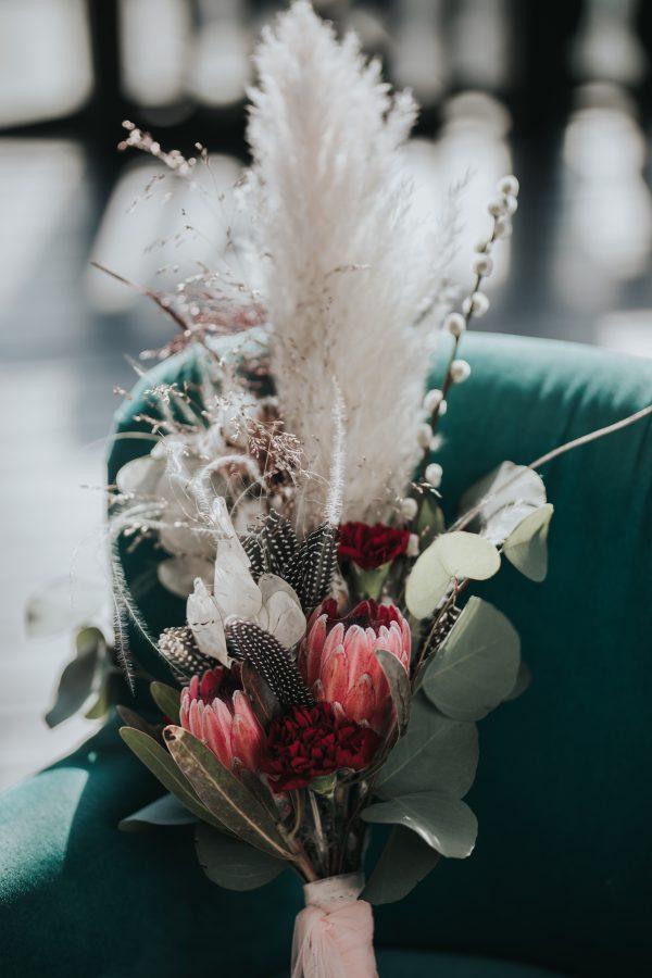 buchet flori cununie exotic